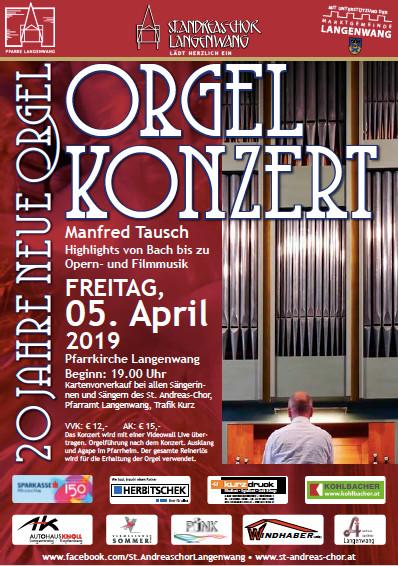 20 Jahre Neue Orgel Langenwang – Orgelkonzert 5. April  2019