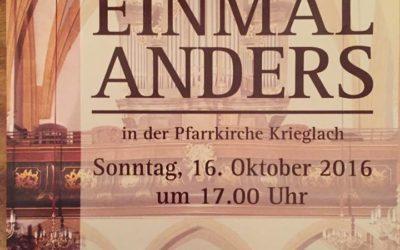 Orgel Einmal Anders am 16. Oktober 2016 in der Pfarrkirche Krieglach