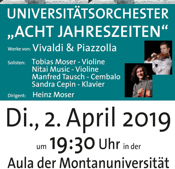 Acht Jahreszeiten am 2. April 2019 in der Aula der Montanuniversität Leoben
